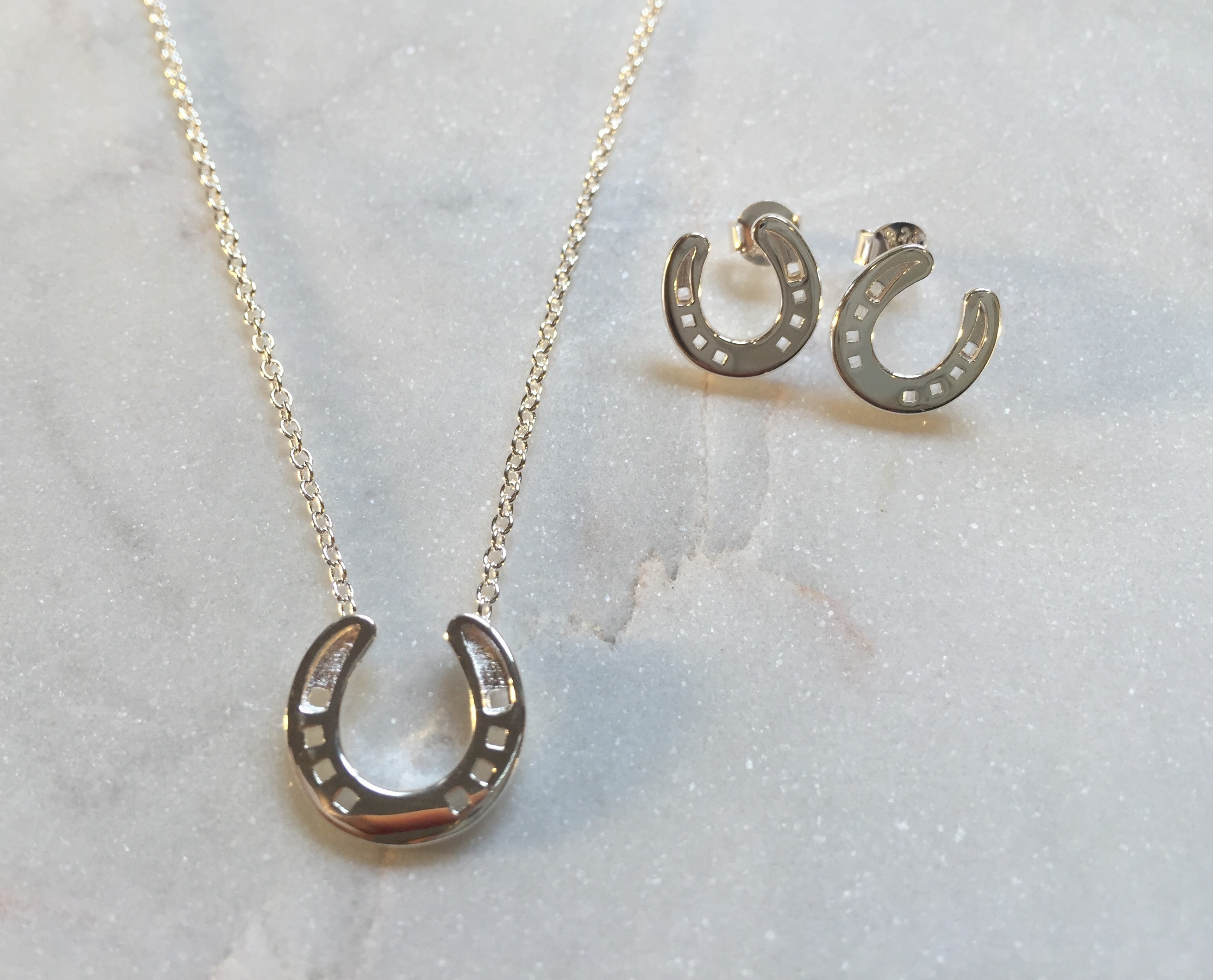 products random horse swag hoof img print and disk earrings necklace